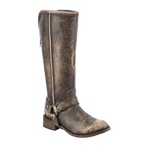 Round Toe Harness Boots - 6