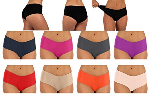 Sexy Basics Womens 12 Pack Cotton Spandex Active Boy Shorts Color Briefs