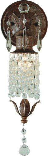 Light Crystal Sconce 1 (Feiss WB1216BRB Maison De Ville Crystal Wall Sconce Lighting, Bronze, 1-Light (5