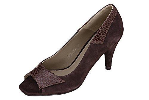 mujer de vestir Dini de cuero Zapatos marrón Patrizia para Pumps marrón qP8Xq7