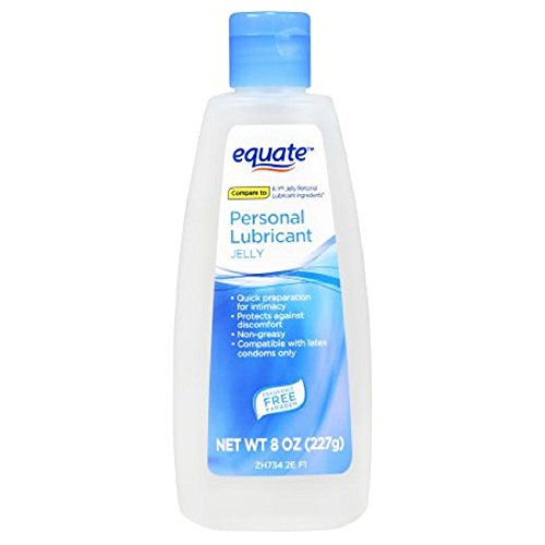 Equate Lubricating Jelly Personal Lubricant, 8 Fl Oz