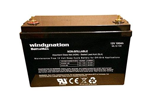 WindyNation 12V 100 Amp-Hour (240 Minute - 12 Volt 100 Amp Shopping Results
