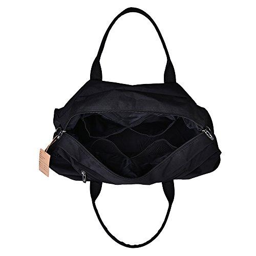 LUXUR Travel Duffel Bag Waterproof Weekender Luggage for Hiking Business Gym (50L) by LUXUR (Image #4)