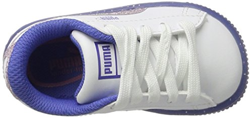 Puma Basket Iced Glitter 2 Inf, Zapatillas Unisex Niños Blanco (White-smoky Grape)