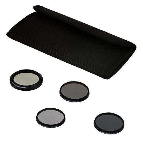 Fotodiox Four (4) Piece Filter Kit for DJI Inspire 1 Drone - ND4, ND8, ND16 & CPL Filters f/Zenmuse X3 Camera (Fotodiox Kit Filter)