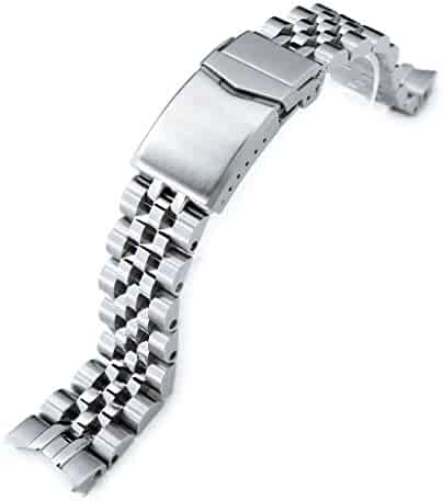 20mm Angus Jubilee 316L SS Watch Bracelet for Seiko Alpinist SARB017, V-Clasp