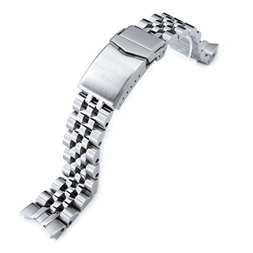 - 20mm Angus Jubilee 316L SS Watch Bracelet for Seiko Alpinist SARB017, V-Clasp