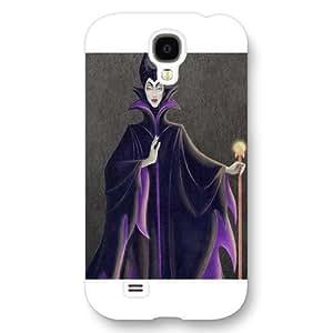 Customized White Hard Plastic Disney Sleeping Beauty Maleficent Samsung Galaxy S4 Case by runtopwell