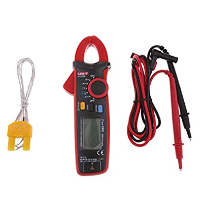 MagiDeal UT210D Mini Digital Clamp Multimeter AC/DC Volt Amp Capacitance Temperature Meter