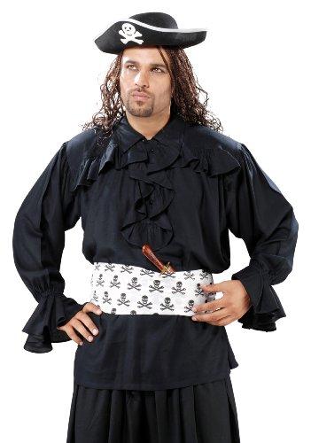Armor Venue - Francis Drake Pirate Shirt - Pirate Costume - Black (Francis Drake Costume)