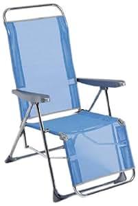 Alco - Tumbona Posiciones Relax Aluminio Fibreline Azul Color 30 1-480AZ