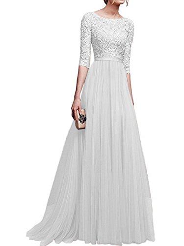 RONG XIU Vestidos De Vestidos Noche white Vestidos Y 6wf4dqxpw
