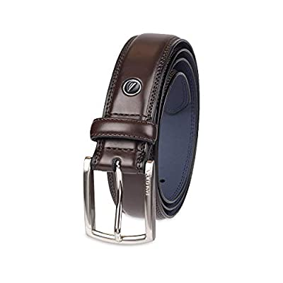 Nautica Men's 100% Leather Belt with Dress Buckle and Stitch Comfort