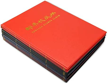 10 Sheet 3 Rows and 5 Rows Pockets,Black MUDOR Black Page Stamp Album Stockbook for Professional Collectors 20 Page