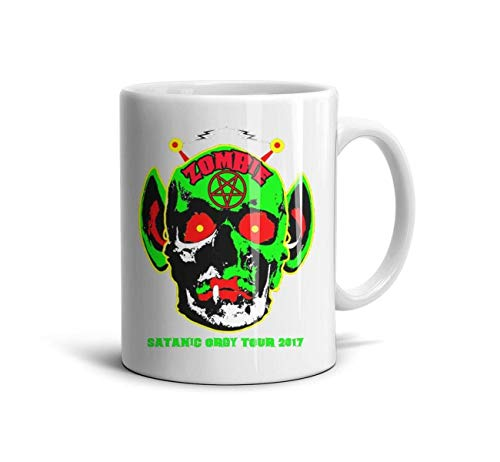 Yujiakhe 11 oz Rob-Zombie-Satanic-Orgy-2017- White Coffee Mugs Daily Use Espresso Cups ()