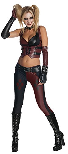 Harley Quinn Adult Womens Plus Size Costumes (UHC Women's Dc Comics Batman Harley Quinn Outfit Movie Theme Sexy Costume, L (12-14))