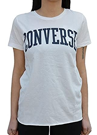 converse tshirt damen weiß