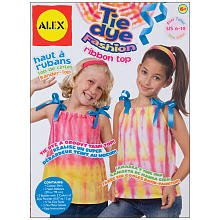 ALEX Tie Dye Fashion Ribbon Top ()