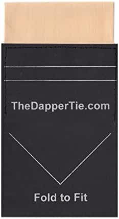 TheDapperTie - Men's Solid Flat Pre Folded Pocket Square on Card