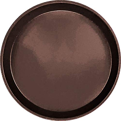 - Serving Camtray, Round, 11'' Diameter, Fiberglass, Aluminum Reinforced Rim, Brazil Brown, Nsf (12 Pieces/Unit)