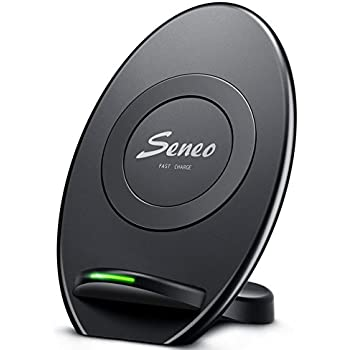Wireless Charger, Seneo Standard Wireless Charging Pad Stand for iPhoneX iPhone8 Plus iPhone8, 10W Fast Wireless Charger for Galaxy S9 Plus S9 Note 8/5 S8/S8 Plus S7/S7 Edge S6 Edge Plus