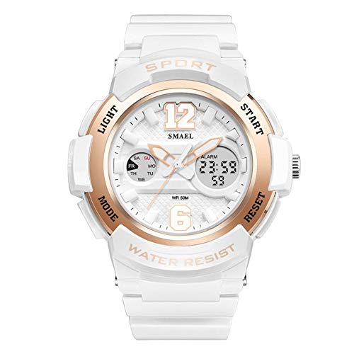 Reloj de Cuarzo Mujer, Reloj Deportivo Impermeable, Reloj analógico, Fecha de Negocios con