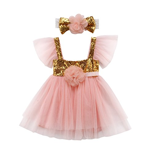 5cc5bf85a636 Mornbaby Toddler Kids Baby Girls Knitted Tulle Cap Tutu Dresses Jersey ...