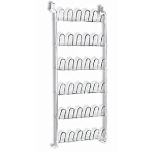 It's A Keeper 18 Pair Over-the-Door Shoe Organizer - White