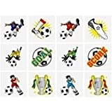 24 X FOOTBALL CHILDRENS KIDS TEMPORARY FUN TATTOOS BIRTHDAY PARTY LOOT BAG FILLERS