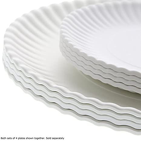 Amazon.com What Is It? Reusable Paper Dinner Plate 9 Inch Melamine Set of 4 Kitchen \u0026 Dining  sc 1 st  Amazon.com & Amazon.com: What Is It? Reusable Paper Dinner Plate 9 Inch Melamine ...
