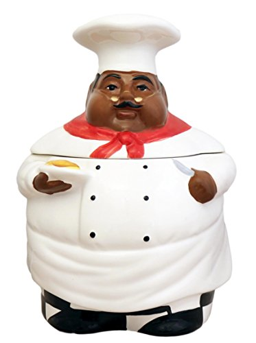 New Fat Bistro Chef Cookie Jar Black Ethnic African - Cookie Jar Grapes