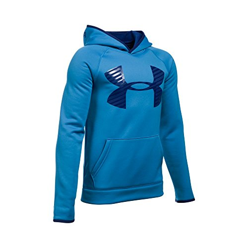 Under Armour Boys' Storm Armour Fleece Highlight Big Logo Hoodie, Brilliant Blue (787), Youth X-Large
