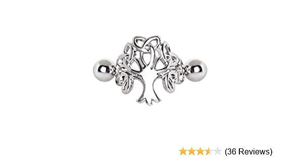 316L Stainless Steel Tree of Life WildKlass Cartilage Cuff Earring Sold by Piece
