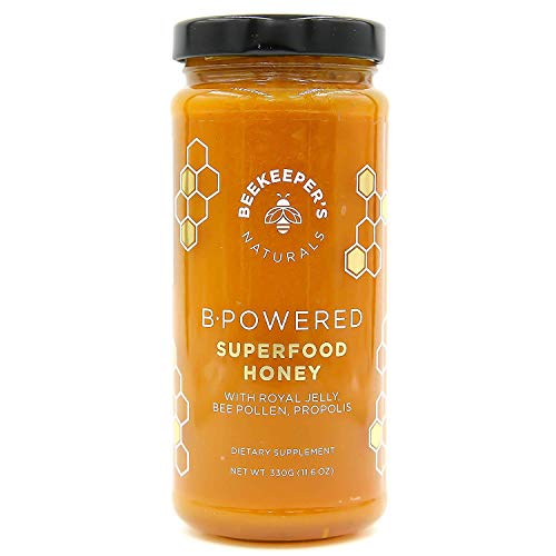 - Bee Powered by Beekeeper's Naturals | Royal Jelly, Bee Pollen, Bee Propolis in Raw Unfiltered Honey for Natural Energy | Hive Superfood Complex for Immunity, Cognitive & Allergy Support