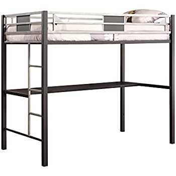 Amazon Com Dhp Screen Loft Metal Bunk Bed With Desk And