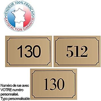 17 couleurs disponibles Plaque de num/éro de rue PVC Violet Plaque grav/ée /à personnaliser 15 x 10 cm num/éro de maison