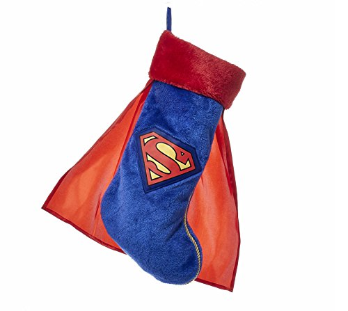 Kurt Adler 19 Inch Superman Christmas Stocking With Cape -