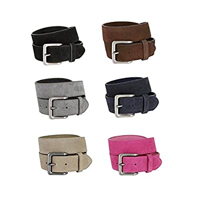 Square Buckle Casual Jean Suede Leather Belt for WomenMulitple Colors Available