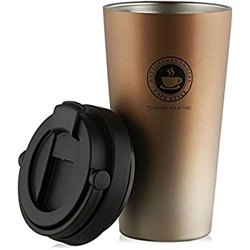 500ML Stainless Steel Cups 16oz Tumbler Pint Glasses,18//8 Metal Cups
