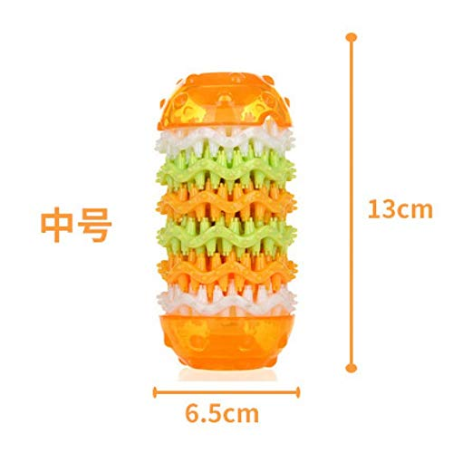 orange M haierr Dog toy molar tooth cleaning toy interactive toy pet supplies, orange M