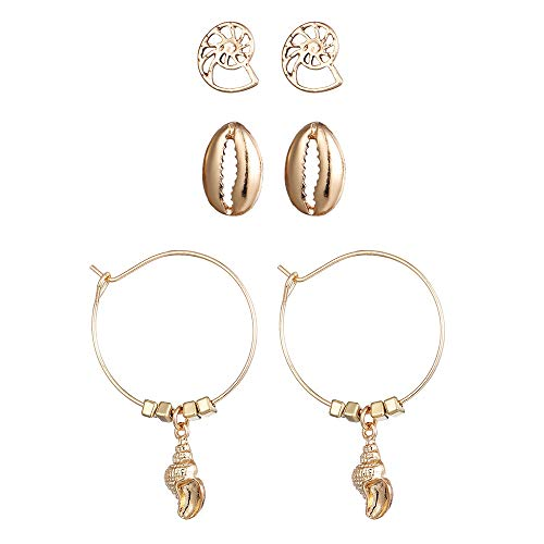 3 Pair Studs Ear,Crawler Earrings Ear Wrap Pin Cute Cute Stud Earrings for Girls Women (A)