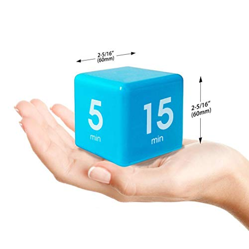 Clock Timer Alarm, Sttech1 Cube Digital 5, 15, 30, 60 Minutes Time Management for Game Entertainment White (Blue)