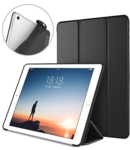 DTTO iPad 9.7 Case 2018 iPad 6th Generation Case / 2017 iPad 5th Generation Case, Slim Fit Lightweight Smart Cover with Soft TPU Back Case for iPad 9.7 2018/2017 [Auto Sleep/Wake] - Black