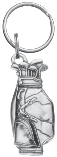 DANFORTH - Golf Bag Keyring - Pewter - 2 inches - Key Fob - Handcrafted - Made in USA -
