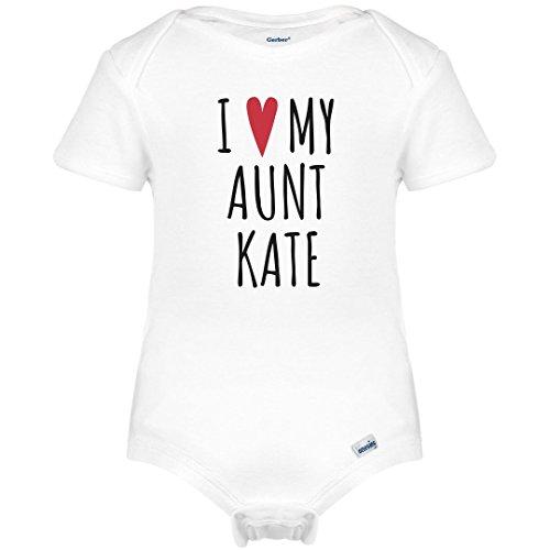 I Heart My Aunt Kate: Infant Gerber Onesies