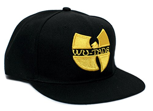 Wu Tang Clan Embroidered Unisex-Adult Hat One-Size Flat Bill Black/Black