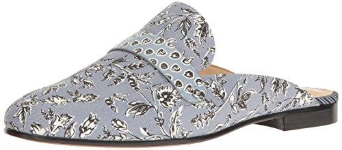 Sam Edelman Womens Perri Mule Dusty Blue Printed Fabric