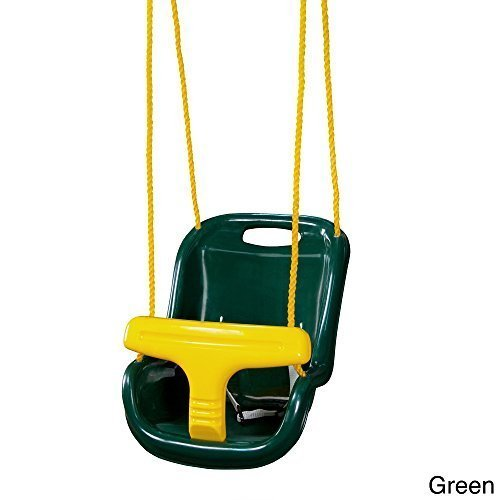 Gorilla Playsets Infant Swing High Back Green by -