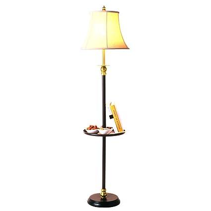 Sexy- Lámpara De Piso Bandeja Estante Sombra De Tela ...