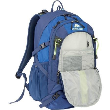 Ozark Trail 36-Liter Multiple Compartments for Added Gear Storage and Organization, Hydration-compatible, Kachemak Daypack, Dark Blue